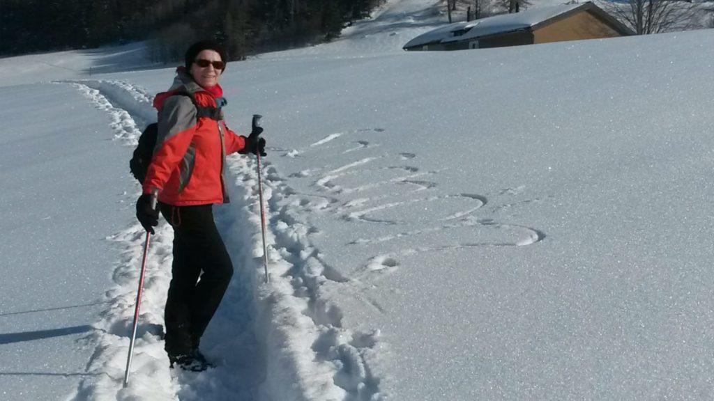 Am Rekognoszieren in Gais im Appenzell-Februar 2019