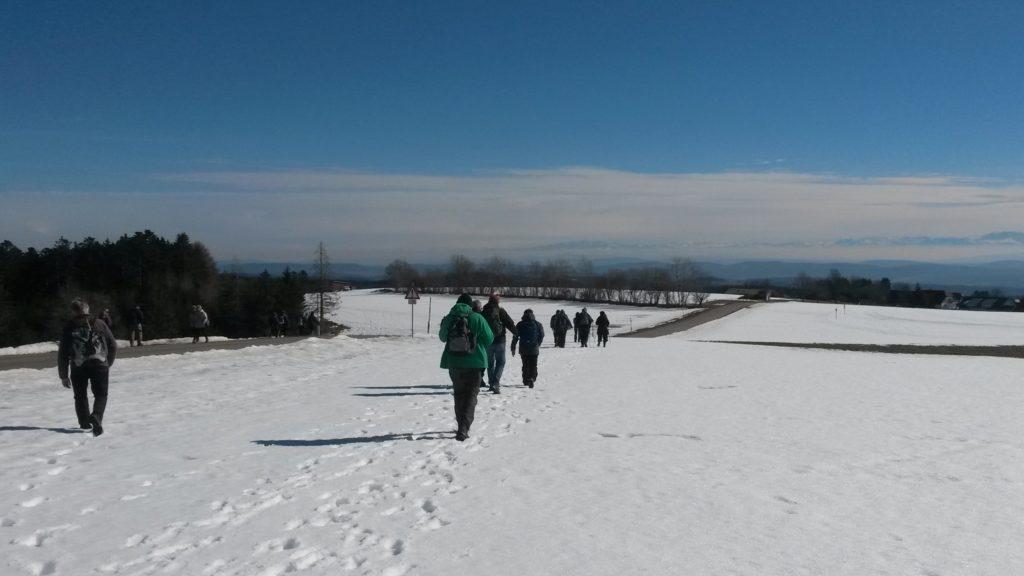 mit zügigen Schritten nach Strittberg