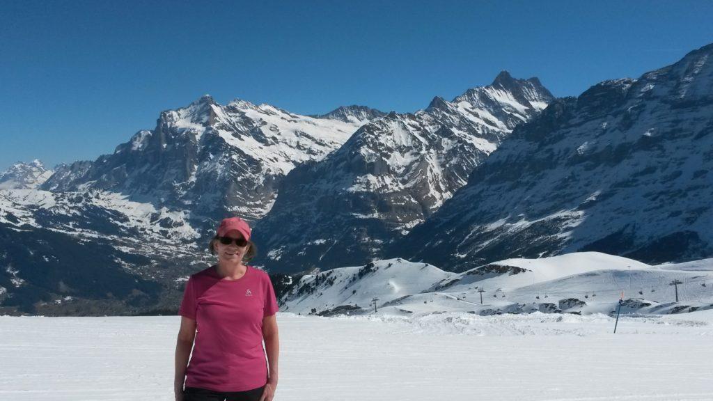 unterwegs auf der Winterwanderung vom Männlichen zur Kleinen Scheidegg
