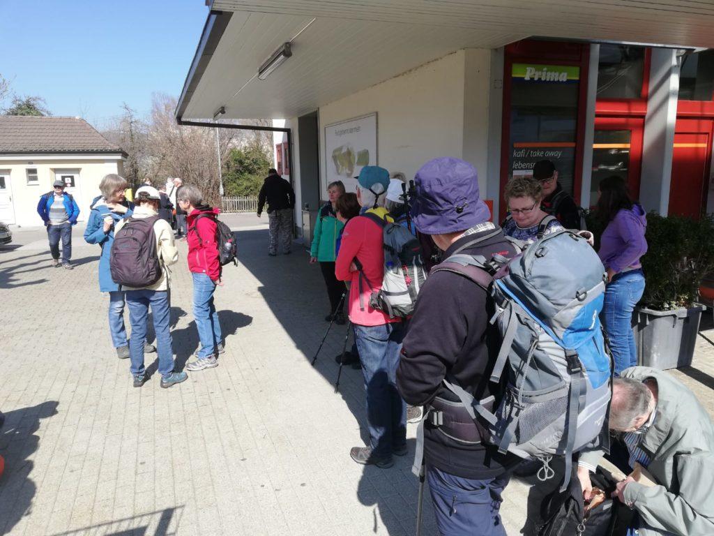 startbereit am Bahnhof Steckborn TG
