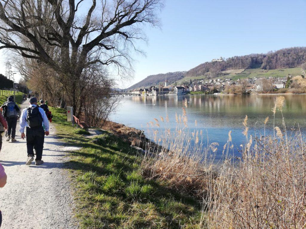 die letzen Schritte bis ans Ziel in Stein am Rhein
