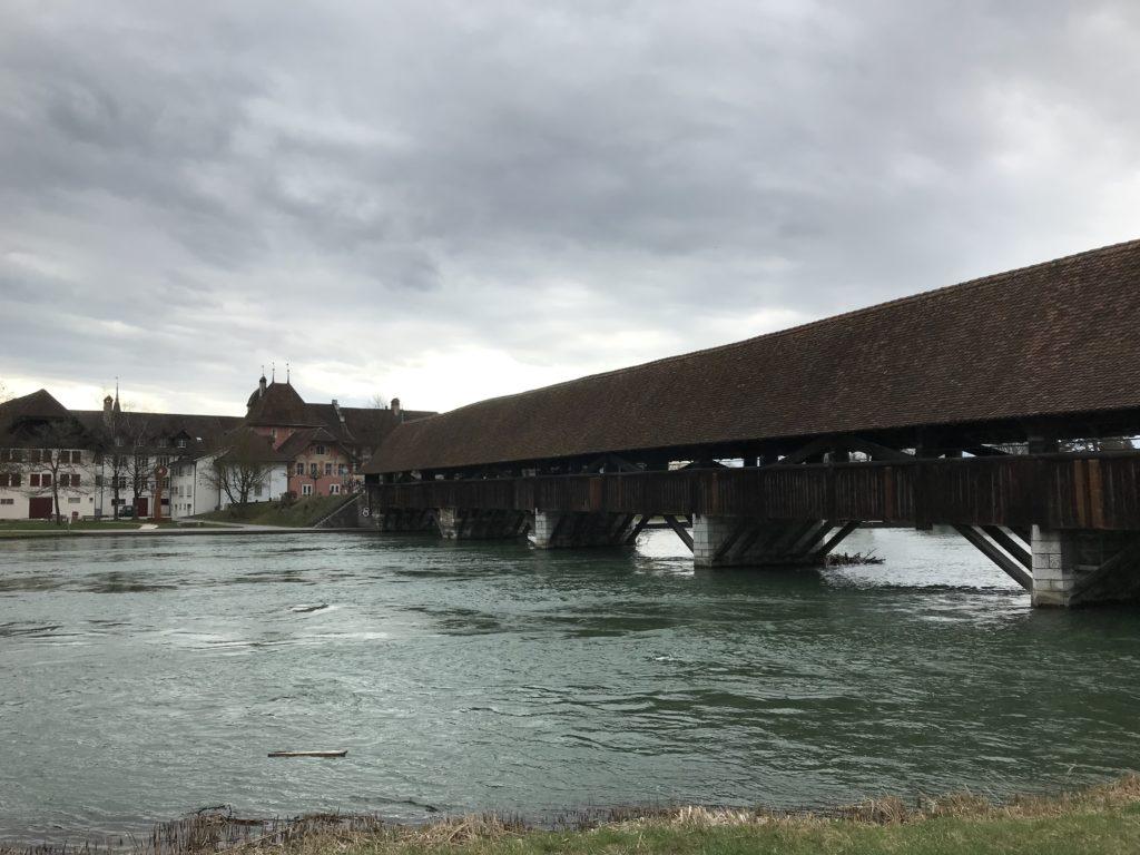 alte Holzbrücke bei Wangen an der Aare