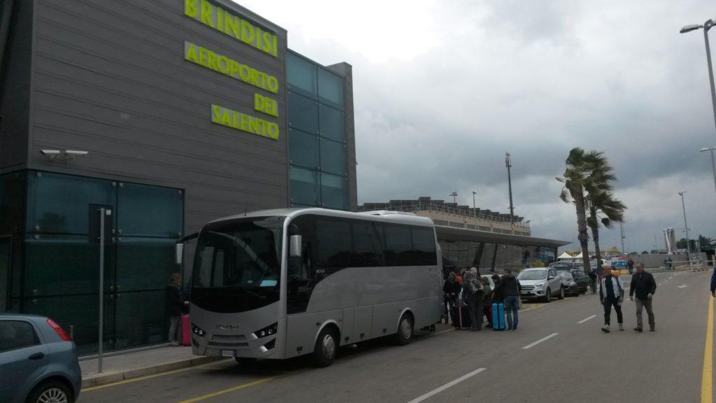Flughafen Brindisi, Zeit der Abreise: Arrivederci Puglia.....