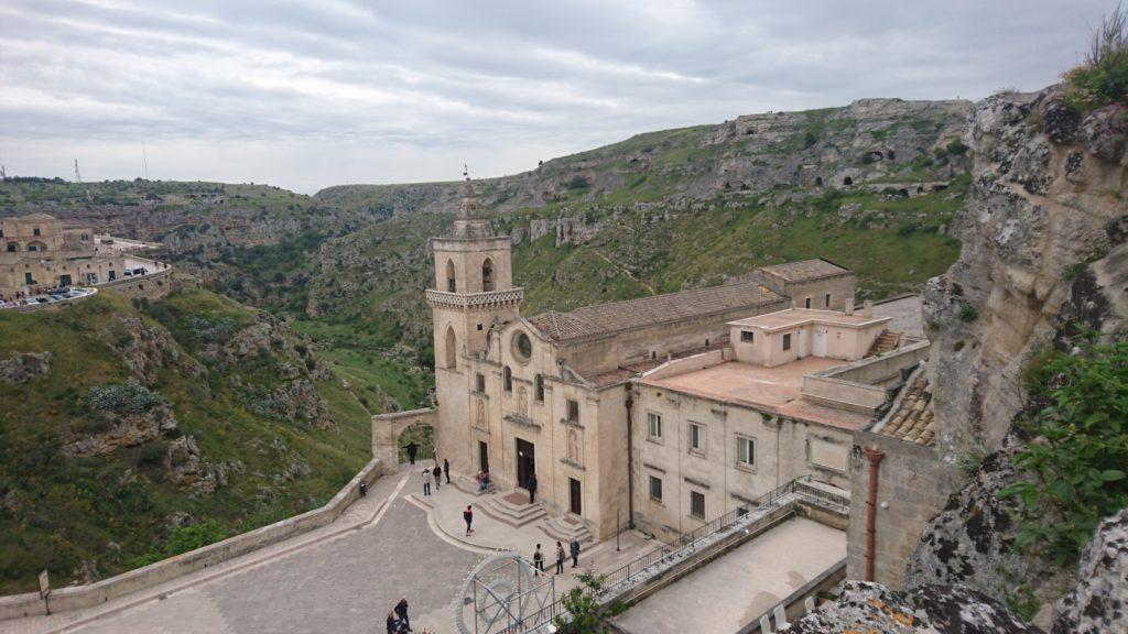 Matera, Felsenkirche Santa Lucia alle Malve mit Fresken aus dem 13. Jahrhundert