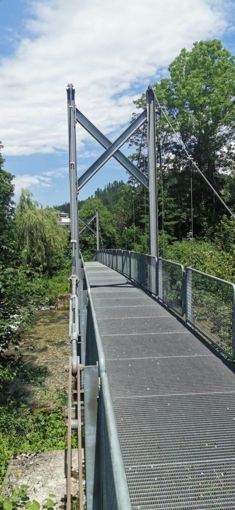 Brückenkonstruktion an der Ilfis im Emmental