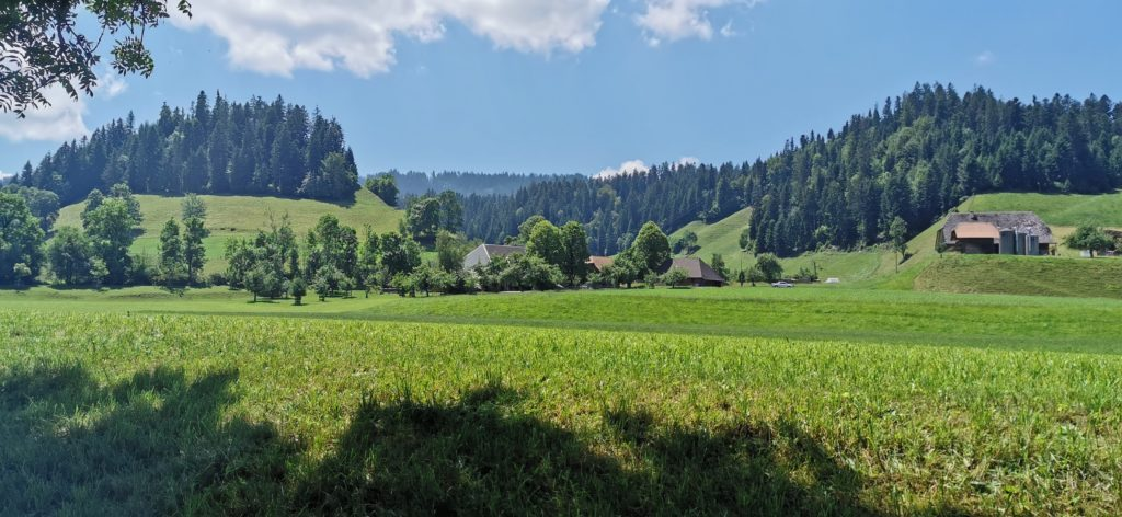 typische Emmentaler Landschaft