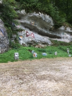 Felsenmalereien im Chessiloch BL