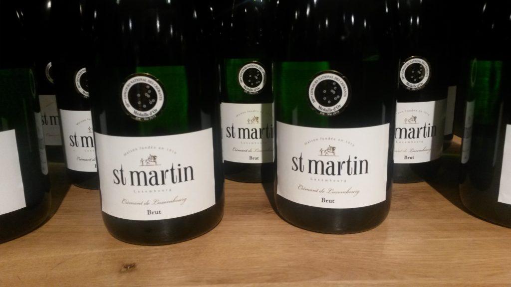 Dritter Halt auf dem Landausflug: Flasche an Flasche in der Sektkellerei CAVES ST MARTIN in Remich