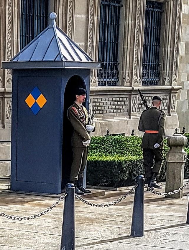 Wachablösung während der Militärparade