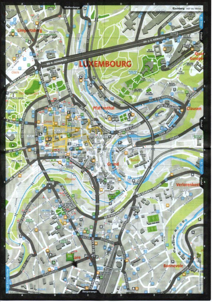 Übersichtsplan der Stadt Luxemburg