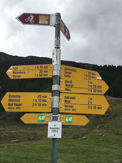 WALSA-Weg: höchster Punkt GAMPIDELLS auf 1220 m
