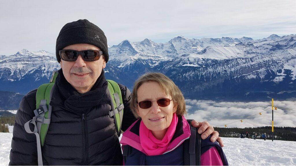 Regina & Giorgio on top of Niederhorn