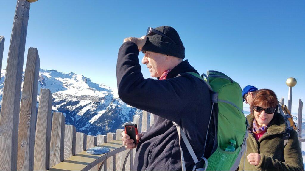 tolle Aussicht vom Männlichen-Gipfel