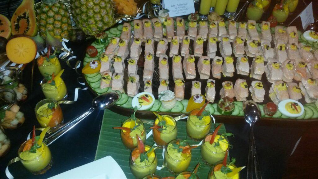 festliches Vorspeisenbuffet im Hotel Metropole in Interlaken