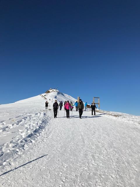 Rückmarsch vom Männlichen-Gipfel auf dem ROYAL WALK