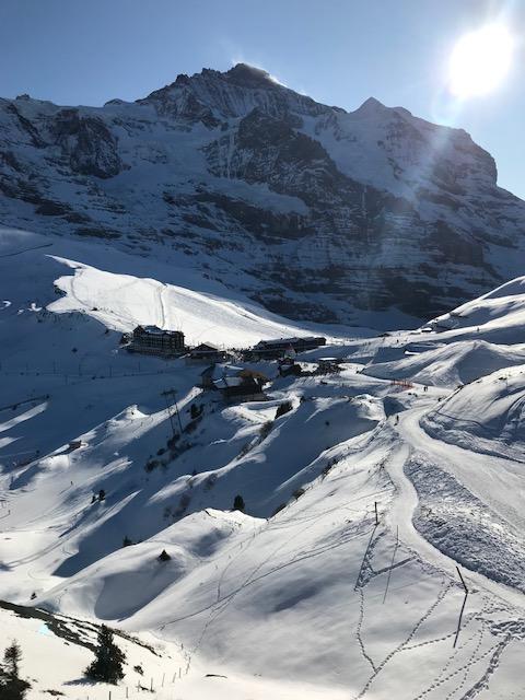 Endlich Sonnenstrahlen auf der Kleinen Scheidegg