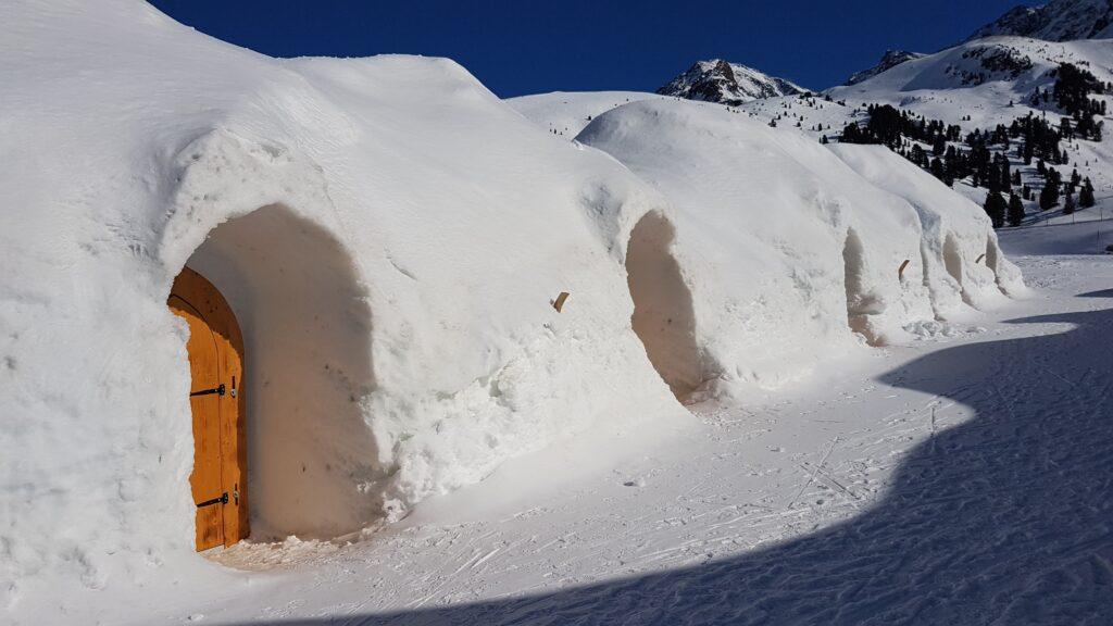 Iglu-Reihen-Behausung in Kühtai