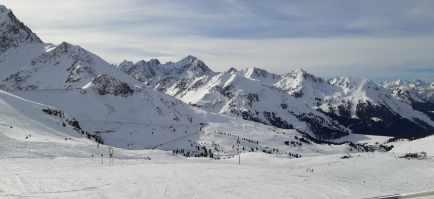 herrliche Piste mitten im Skigebiet