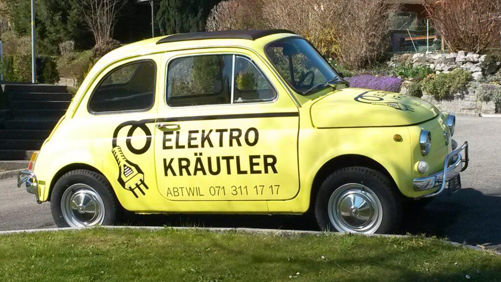 vor dem Haus des Elektro-Kräutlers - 31.03.2020