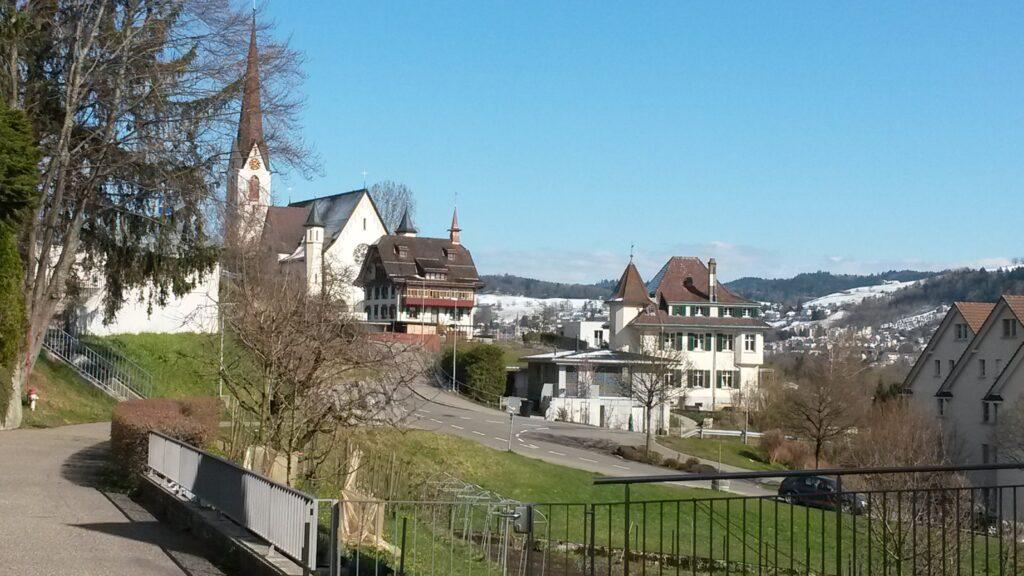 Blick zurück Richtung kath. Kirche - 31.03.2020