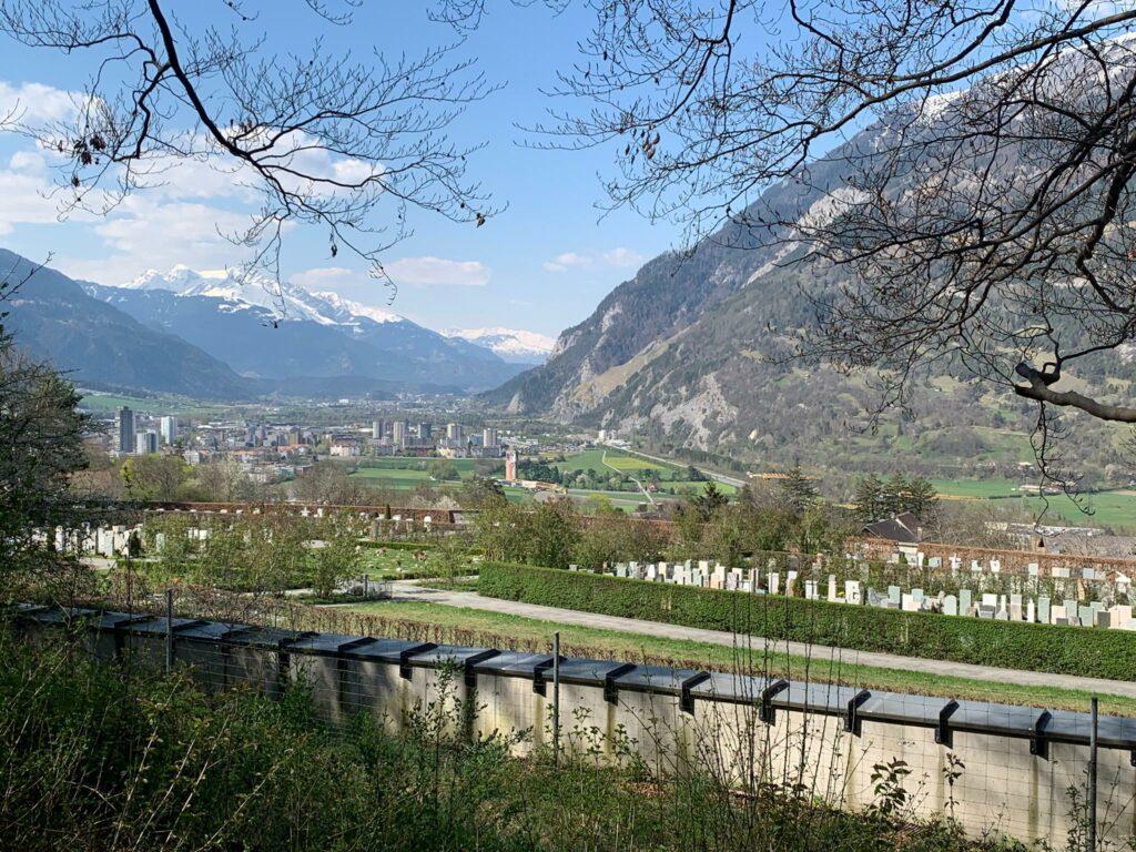 unterwegs von Trimmis nach Chur