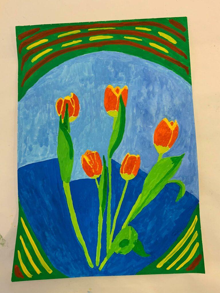 Tulpenkomposition - Gouache, Judith 2020
