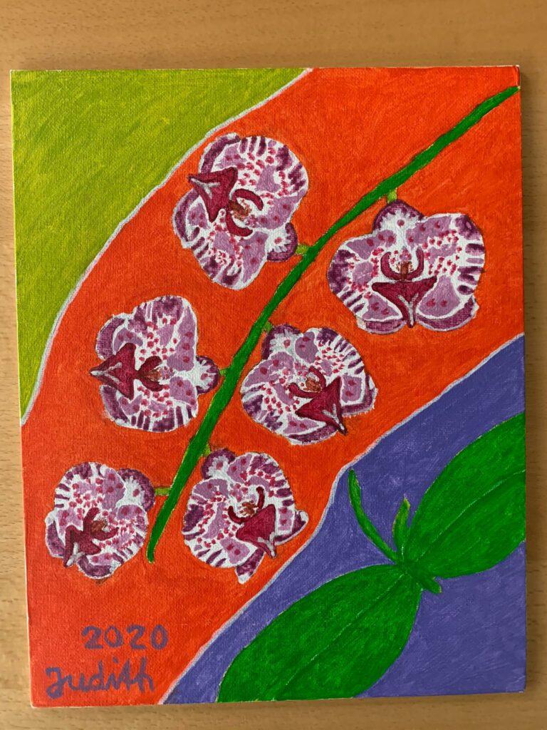 Orchideen - Acryl, Judith 2020