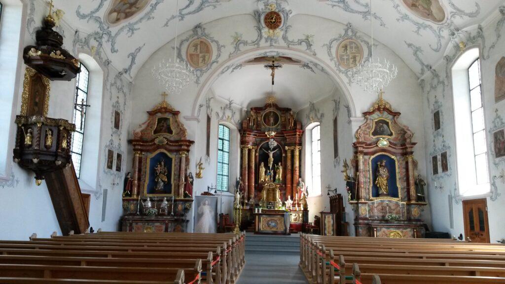Innenraum der Kirche St. Blasien in Waldkirch SG, Regina - 21.05.2020