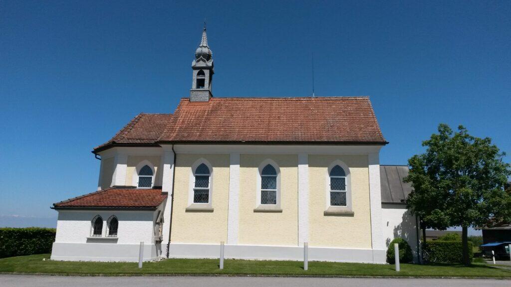Velotour von Abtwil via Waldkirch- Hauptwil nach Gossau SG; hier die St. Gallus-Kapelle - Maria-Hilf, Oberwald in Waldkirch, Regina - 21.05.2020