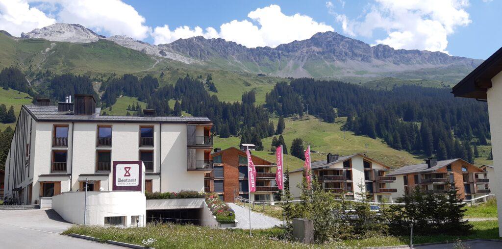 unsere Unterkunft in Parpan: Bestzeit Lifestyle & Sport Hotel