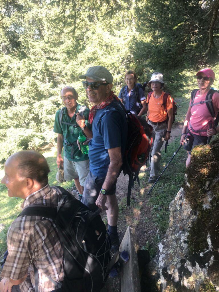 Nach einem Waldstück führt uns der Weg weiter Richtung ALP SCHARMOIN.