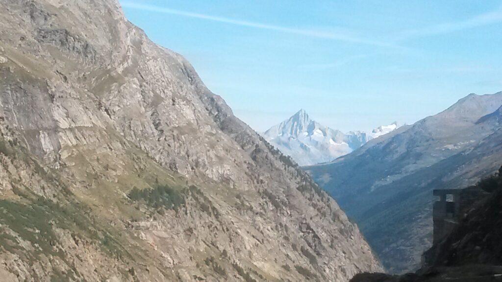 Blick vom Stausee Mattmark Richtung Bietschhorn