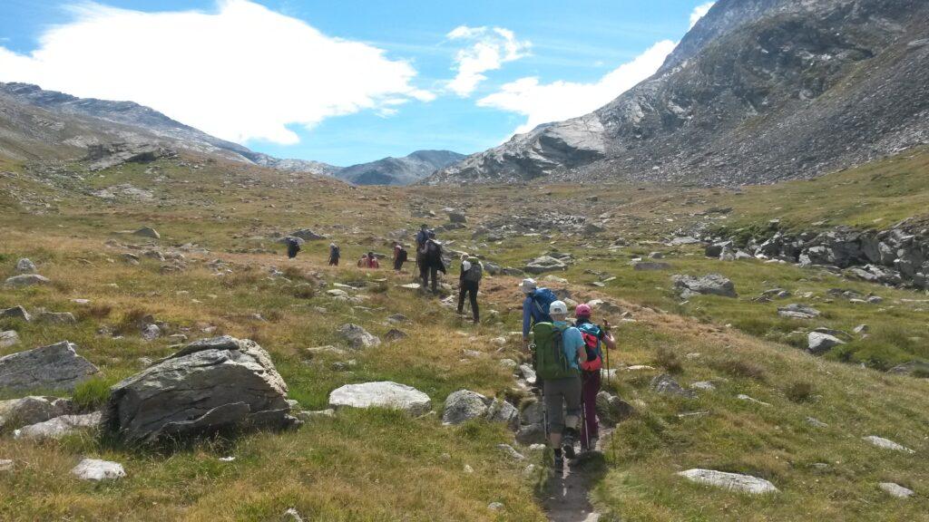 gemächlicher Aufstieg auf dem Bergwanderweg