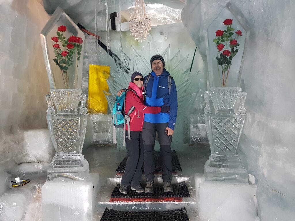 Regina & Giorgio in der Eiskirche