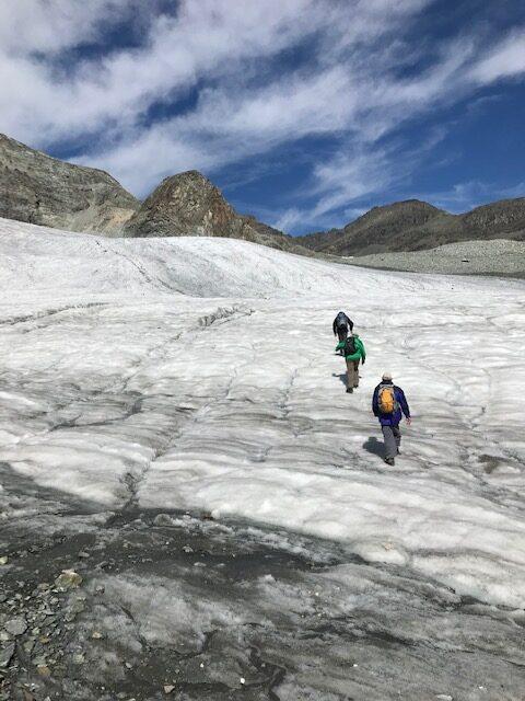 Gletscherüberquerung mit Ziel Britanniahütte