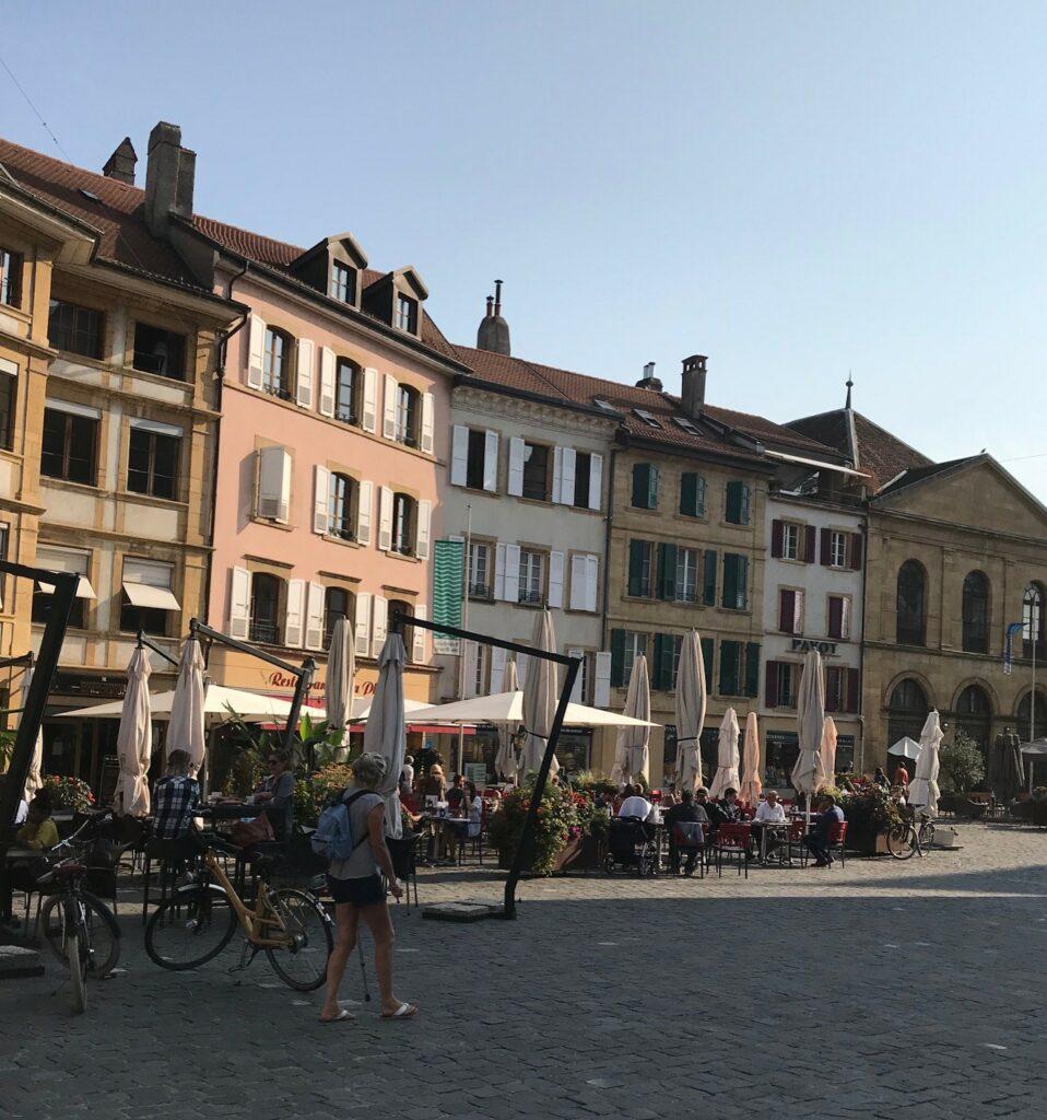 Häuserzeile in Yverdon-les-Bains
