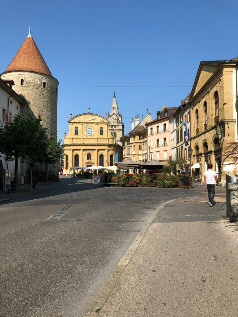 Richtung Altstadt von Yverdon