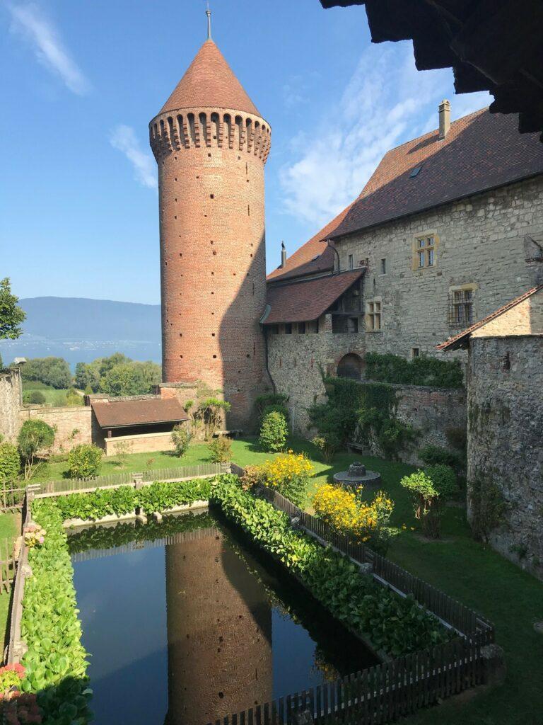 Schlossgarten in Estavayer-le-Lac