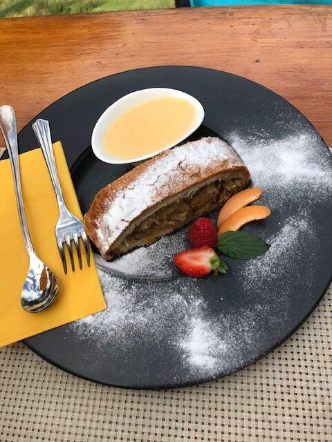 köstlicher Apfelstrudel mit Vanillesauce: So richtig fein!