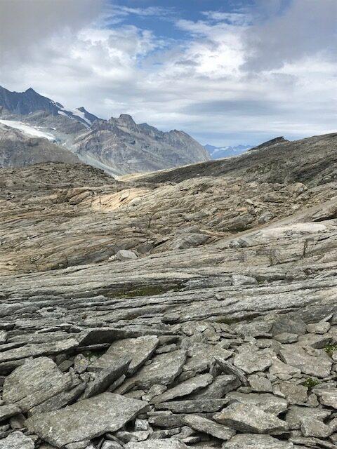 steinige Landschaft in der Region Mattmark
