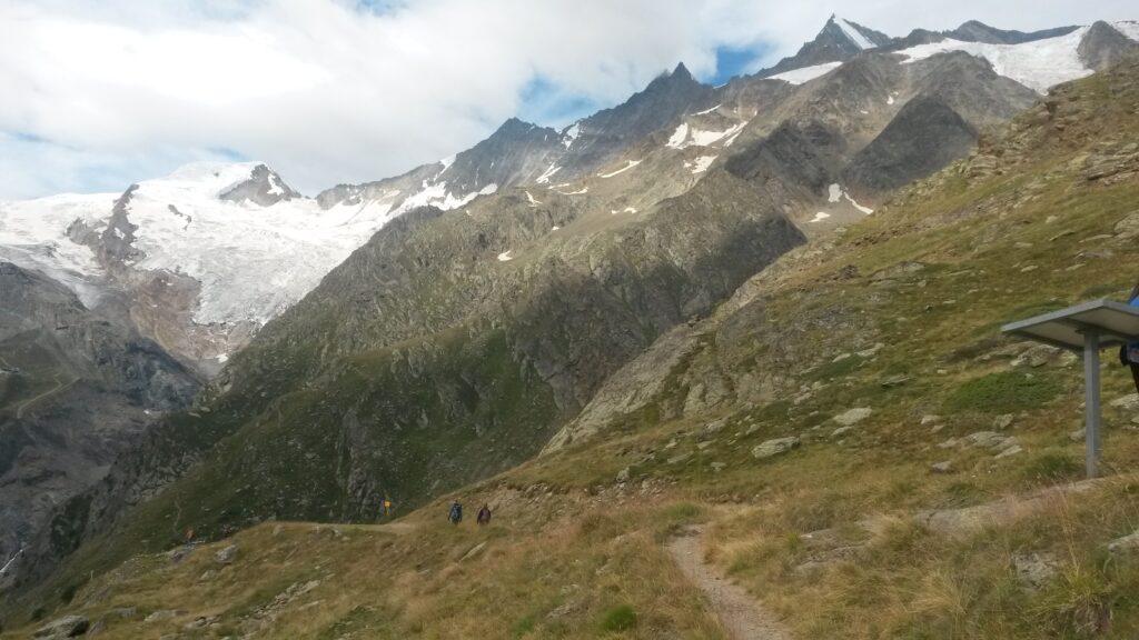 unterwegs Richtung Gletschersee oberhalb Saas-Fee