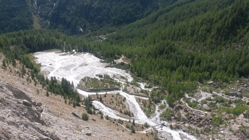 zerflossener Gletscher