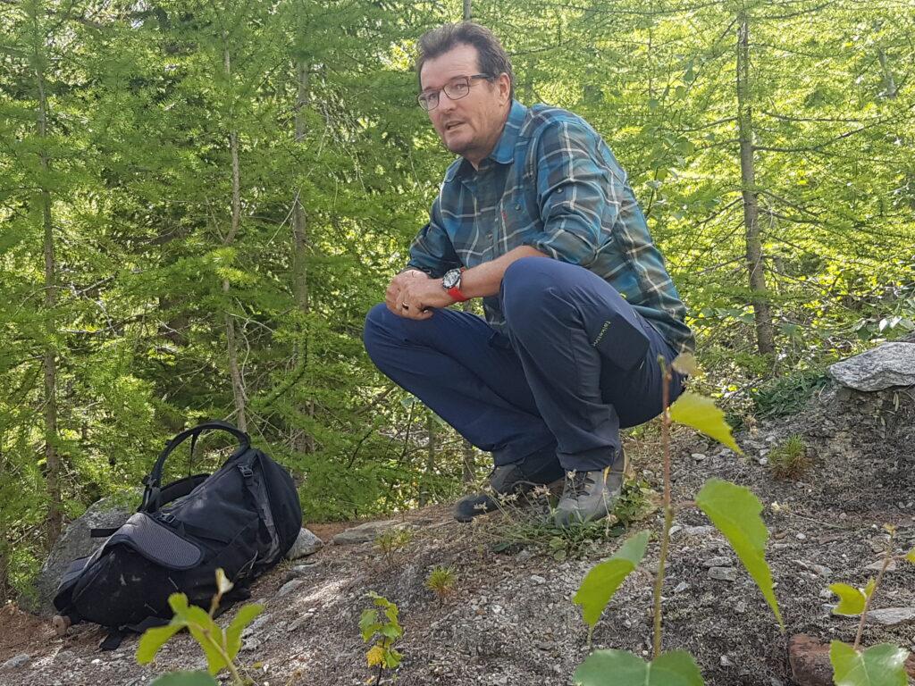 unser erprobter Wanderleiter Dominic Anthamatten