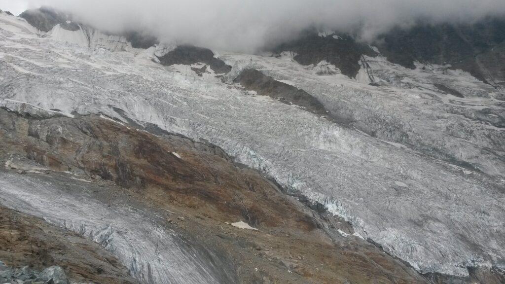 ein letzter Blick in die Eismassen des Feegletschers. Wann sehen wir diese wunderbare Naturschönheit wohl wieder?