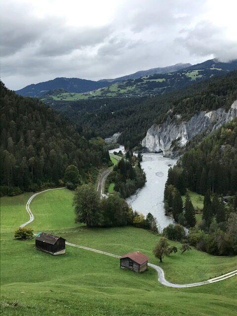 ein letzter Blick in die Rheinschlucht als Abschluss eines tollen Wandererlebnisses
