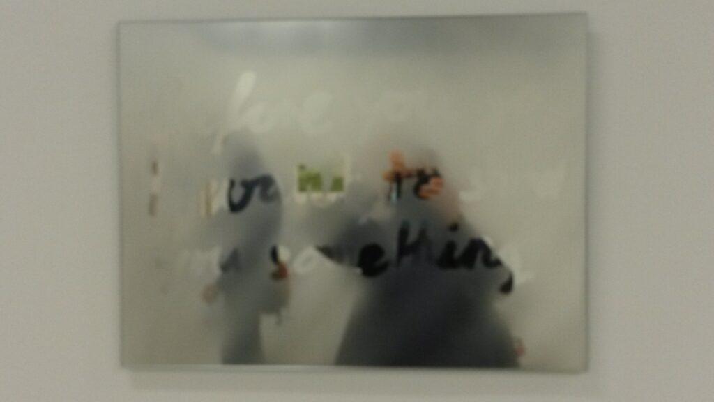 nebelverschleiertes Spiegelbild der Fotografin