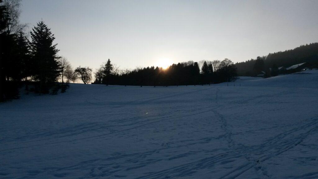 dunkles Schneefeld  - 11.01.2021