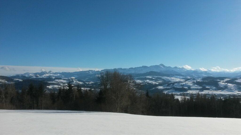 stahlblauer Winterhimmel - 24.01.2021