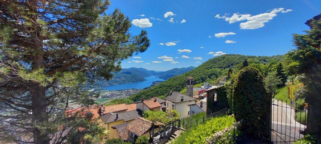 oberhalb Cademario mit Blick zum See - 20.05.2021