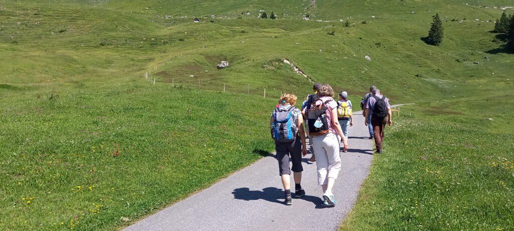 Start der Wanderung auf dem Amdener Höhenweg - 27.06.2021